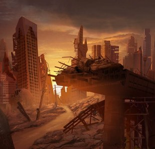 Abandoned_City__Matte_Painting_by_MarcoBucci